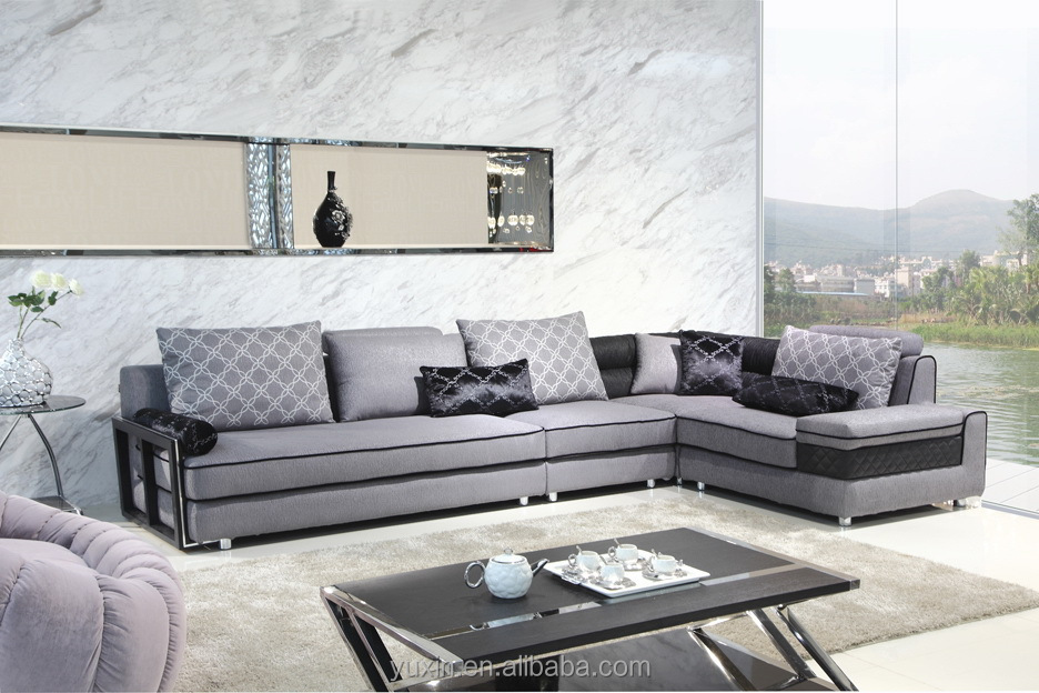 Modern Furniture Design High End Fabric Sectional Sofa Fabric