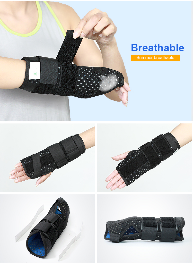 Adjustable pain relief splint wrist band for carpal tunnel