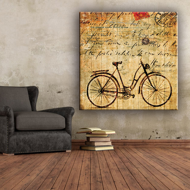 Sofa walls bike coffee canvas art painting pictures for living room