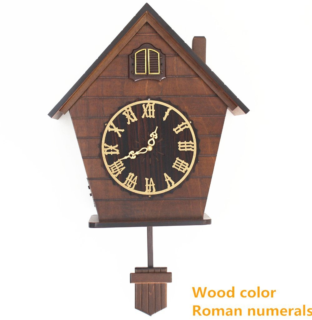 Buy European Cuckoo Clock Chime And Light Control Hand Carved Wood