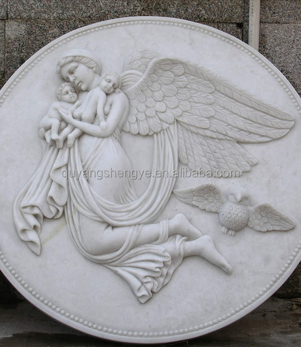Anceint famous figure relief mural buy decorative stone
