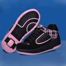 Children Heelys Roller sneakers Shoes With Wheel Boy Girl one wheel heelys Skates Kids Sport Sneakers
