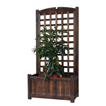Outdoor Wooden Planter Boxes With Trellis Balcony Patio Flower Planters Buy Wood Planter Boxesoutdoor Wooden Plantersgarden Planter Boxes Product