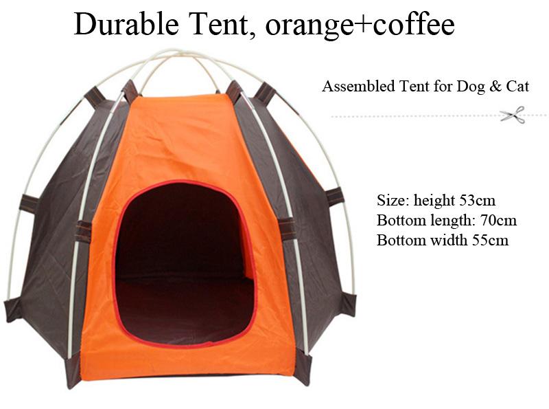 ffed985fb5 Outdoor Small Medium-sized Dog Cat Pet Teepee Camping Tent Nest ...