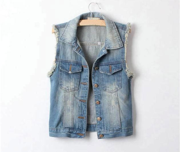 Summer Ladies Sleeveless Denim Short Jacket - Buy Denim Short ...