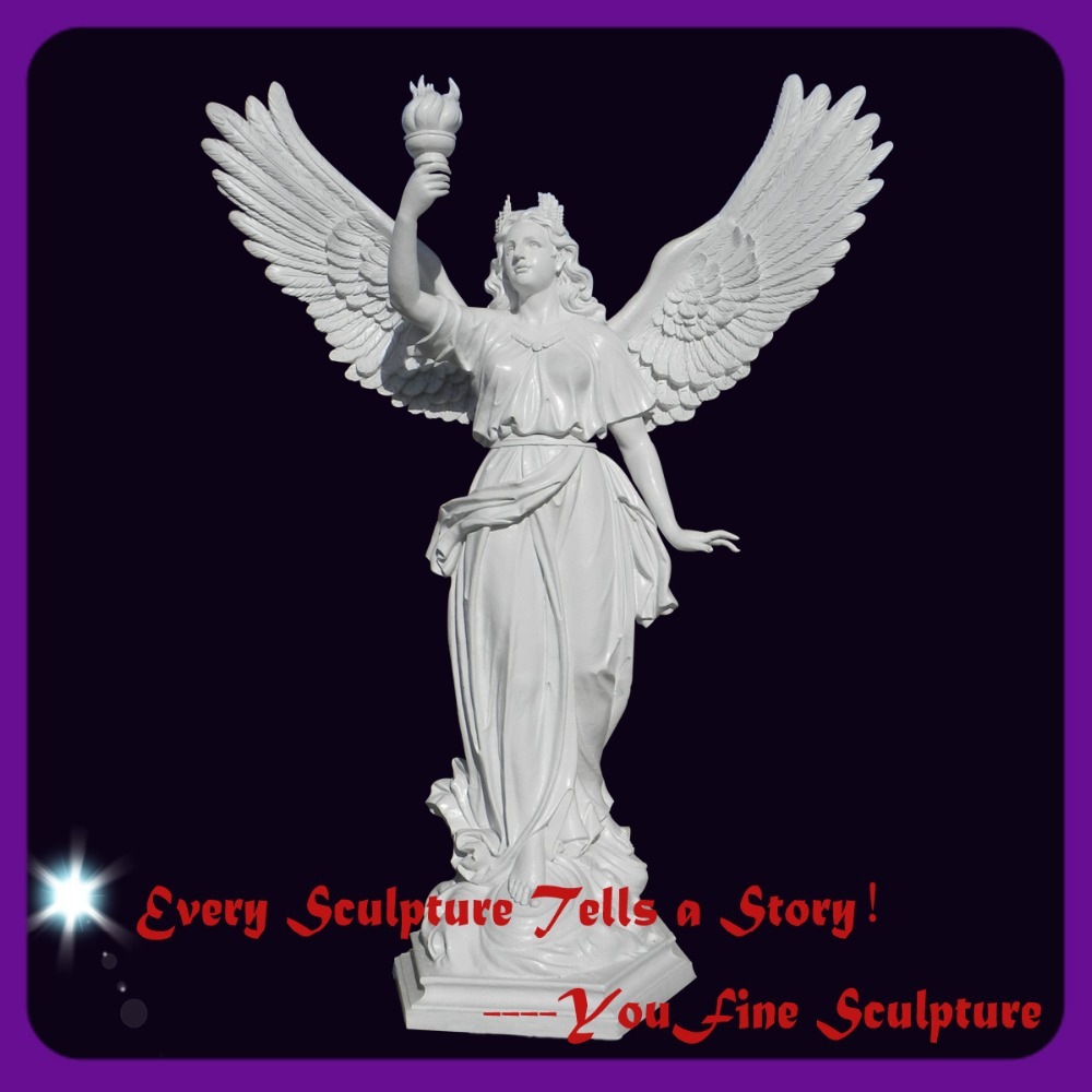 Outdoor Hand Carved Famous Marble Angel Statue