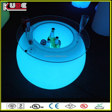 hot sale round led glow furniture illuminated table with light