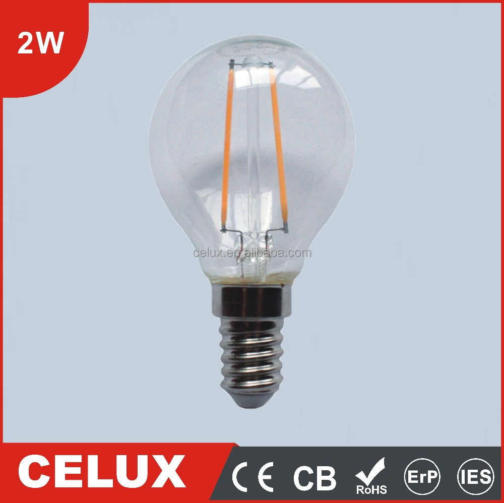 2016 CE CB ROHS 2W E27/B22 Hue E17 Color Temperature Adjustable Candelabra LED Bulb Light