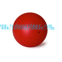 solid 18mm silicone Rubber Ball with hole