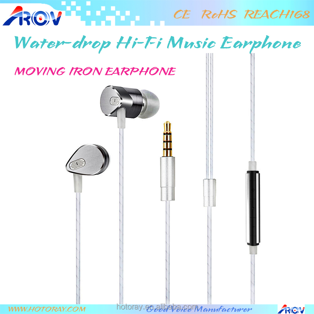 Premium Wired Music Headset Crystal Sound Quality Metal Earphones for Mobile Phones