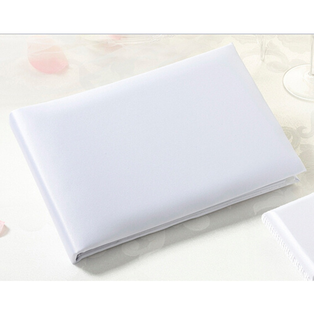 Plain White Guest Book e Penna Titolare di Stile Occidentale Wedding Guest Firma Libro per gli Accessori Da Sposa