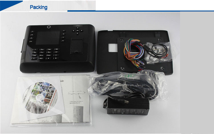 HF Iclock700 gprs alarm security systems biometric attendance system