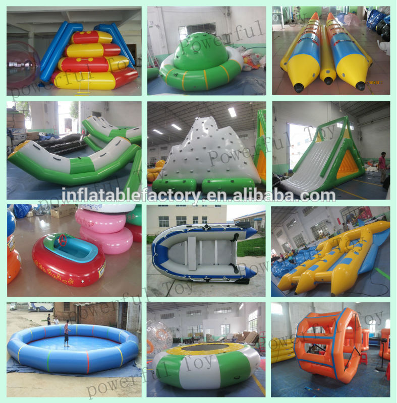 Customized  inflatable  water pool , swimming pools ,inflatable ocean pool with net