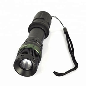 Waterproof Flashlight 600 Lumens Security Torch Light Three Working Modes with 18650/AAA Battery