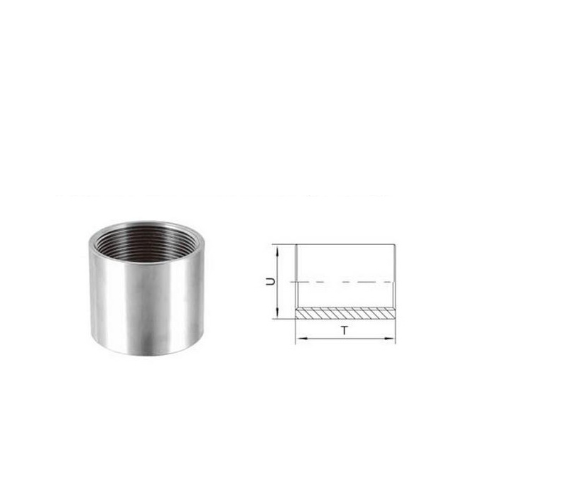 factory price socket O.D.machined stainless steel pipe fitting