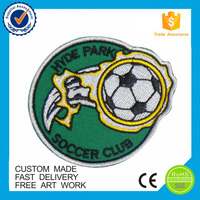 Custom design logo shaped embroidered football sport patch