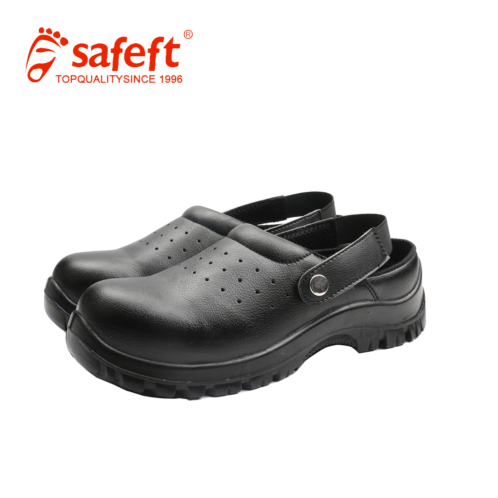 Direct factory loafer black clean room chef kitchen safety shoes