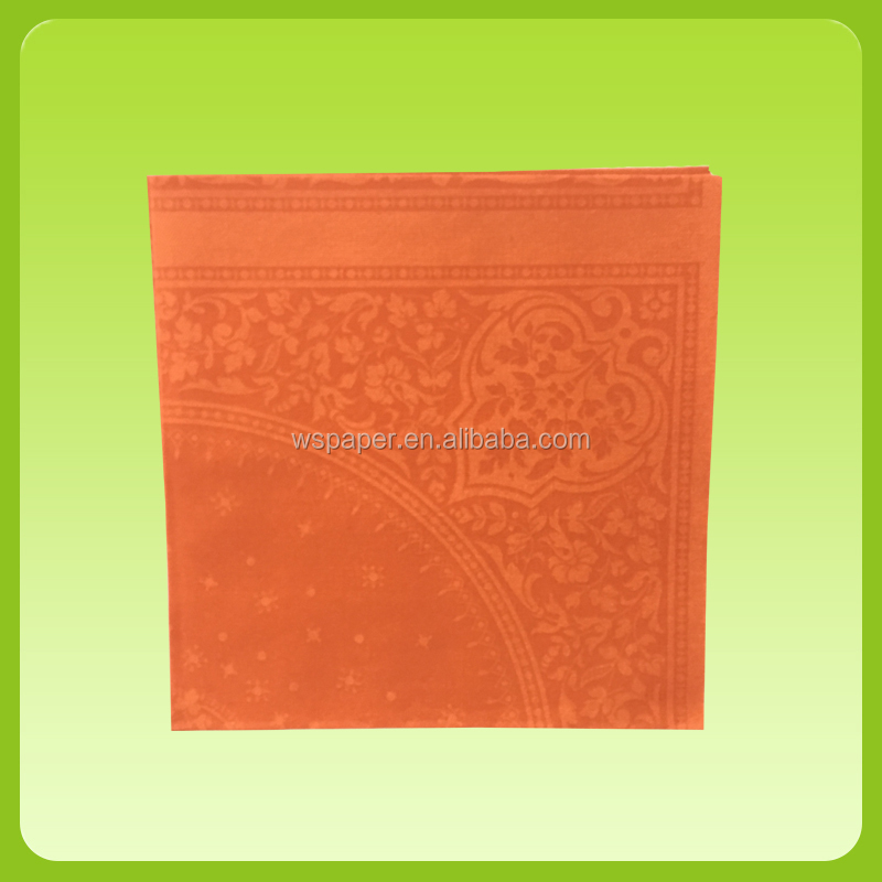 Colorful custom printed paper airlaid napkins for restaurant