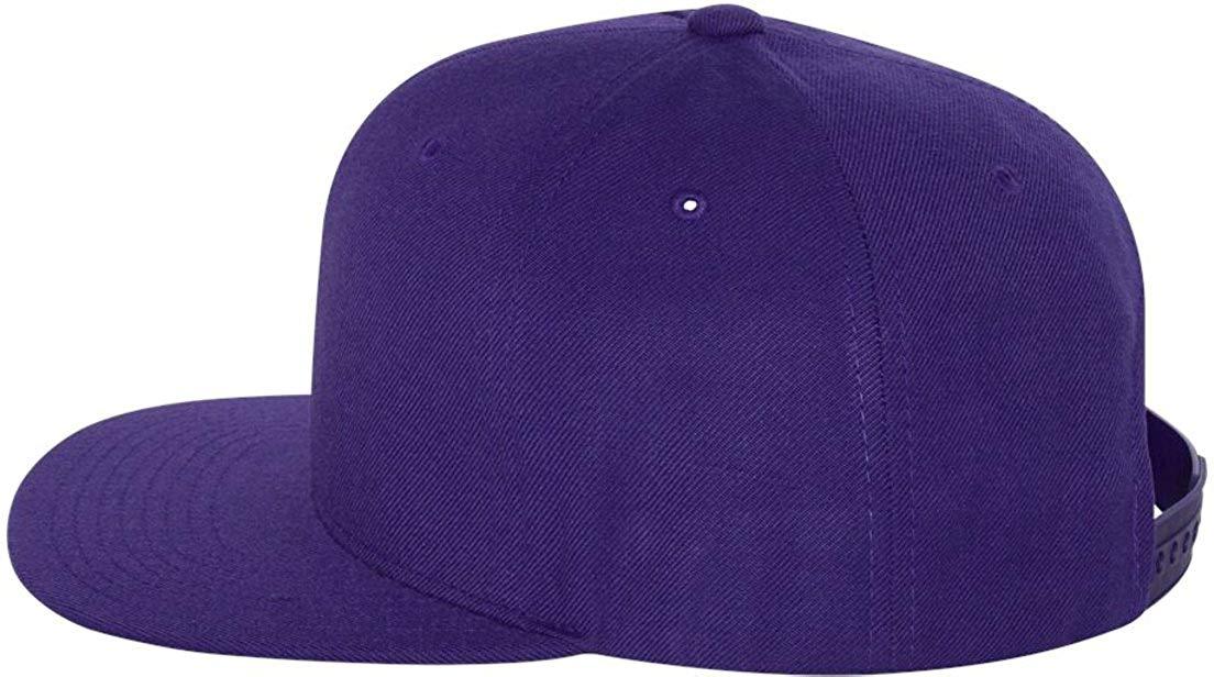 Get Quotations · Wholesale Wool Blend Flexfit Yupoong Flat Bill Blank  Snapback Hats w  Green Underbill (Purple eca961311ce2