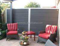 Easy install top quality WPC teak fence, front fence