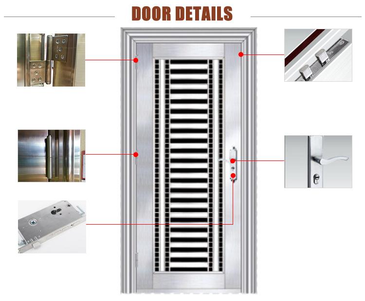 Metal Front Door,Stainless Steel Door,Security Outside Door
