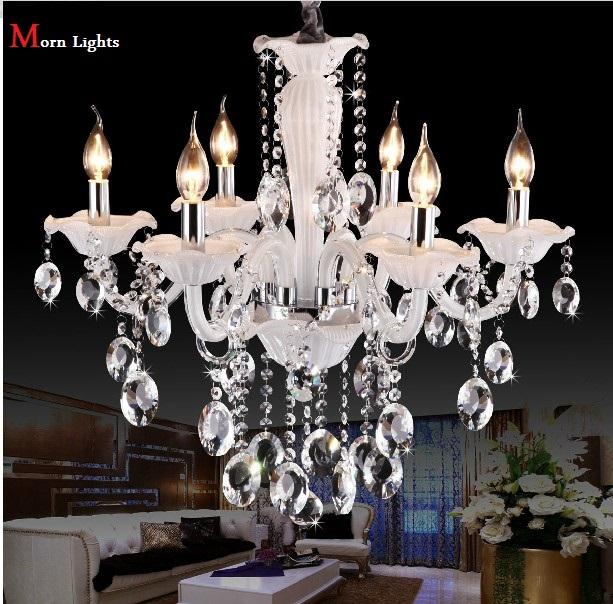 wei 6 lampe kristall kronleuchter moderne kristall. Black Bedroom Furniture Sets. Home Design Ideas