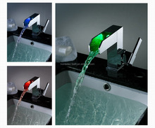 Led Change Color basin Faucet Light led basin taps Without Battery