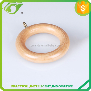 Hot Sell 50mm Ivory Wood Curtain Rod Ring