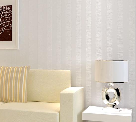 Blanco rayas verticales de fondo del papel pintado pared - Papel pintado a rayas verticales ...