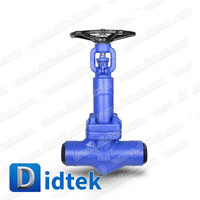 Didtek Manual Butt Weld Forged Bellow Seal Valve Globe Valve