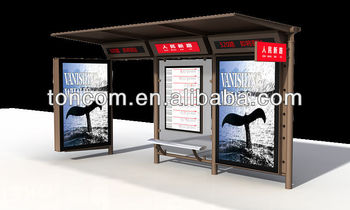 THC-26 standard modern transit shelter with light box
