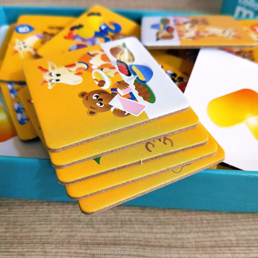 Kids custom paper paly cards/ memory card with box