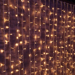 Hot sell led christmas holiday snowflake color changing curtain waterfall lights