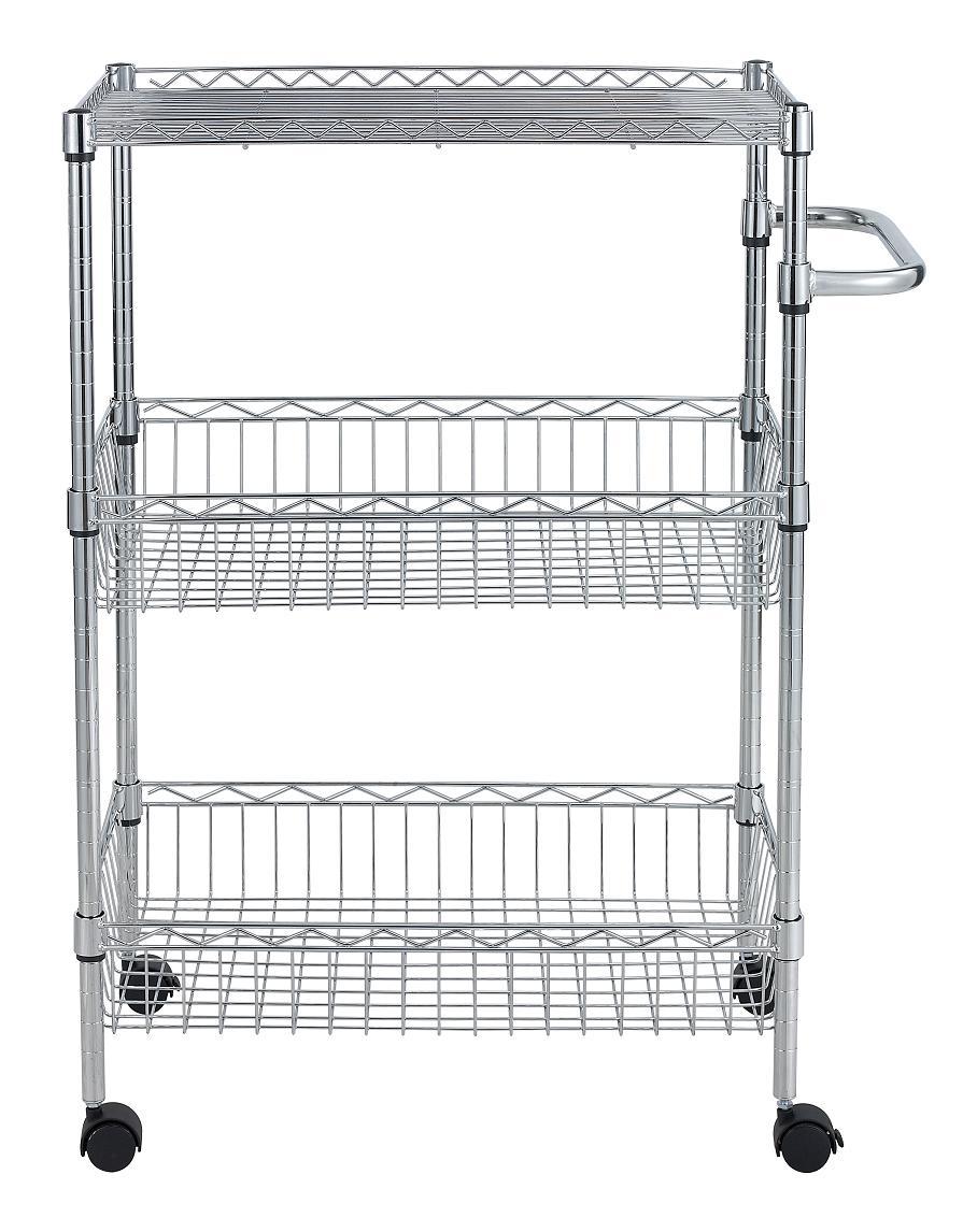 12f Wholesales Price Hygienic 3 Tier Chrome Kitchen Basket,Nsf ...
