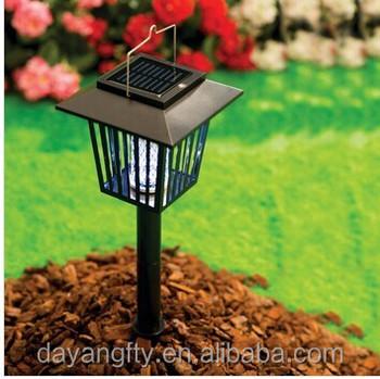 Eco-friendly Solar Electric Outdoor garden power Garden mosquito fly trap/killer l& pest