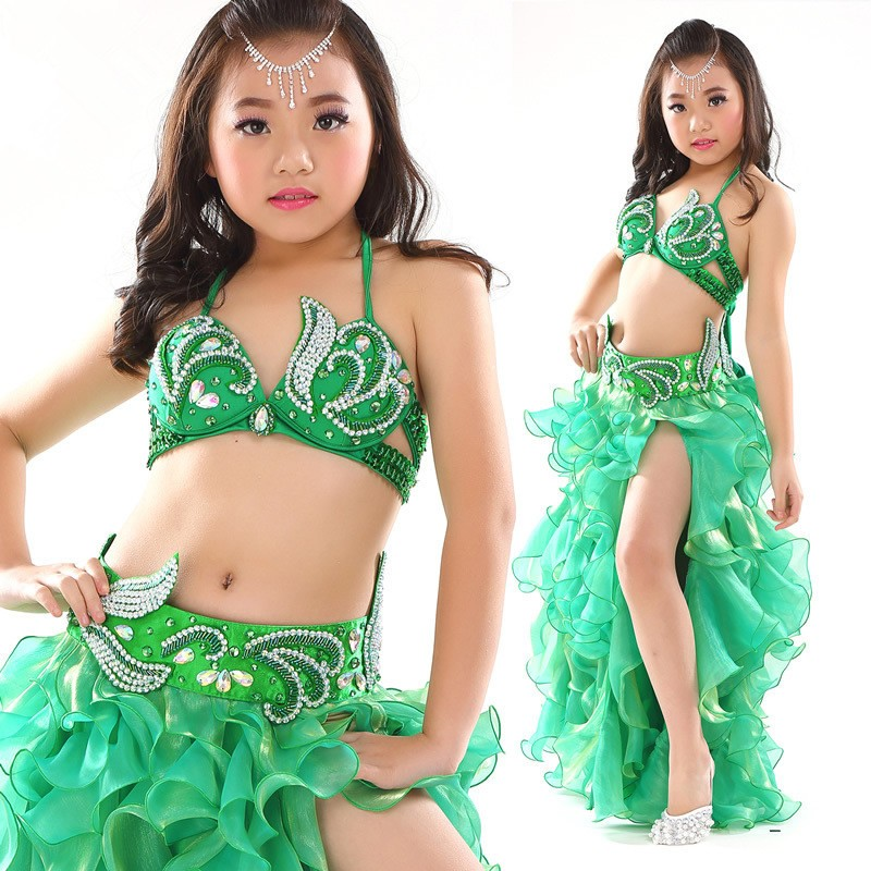 2016 new style sexy children little girls belly dance costumes suits bra skirts buy kids belly - Kleine teen indelingen meisje ...
