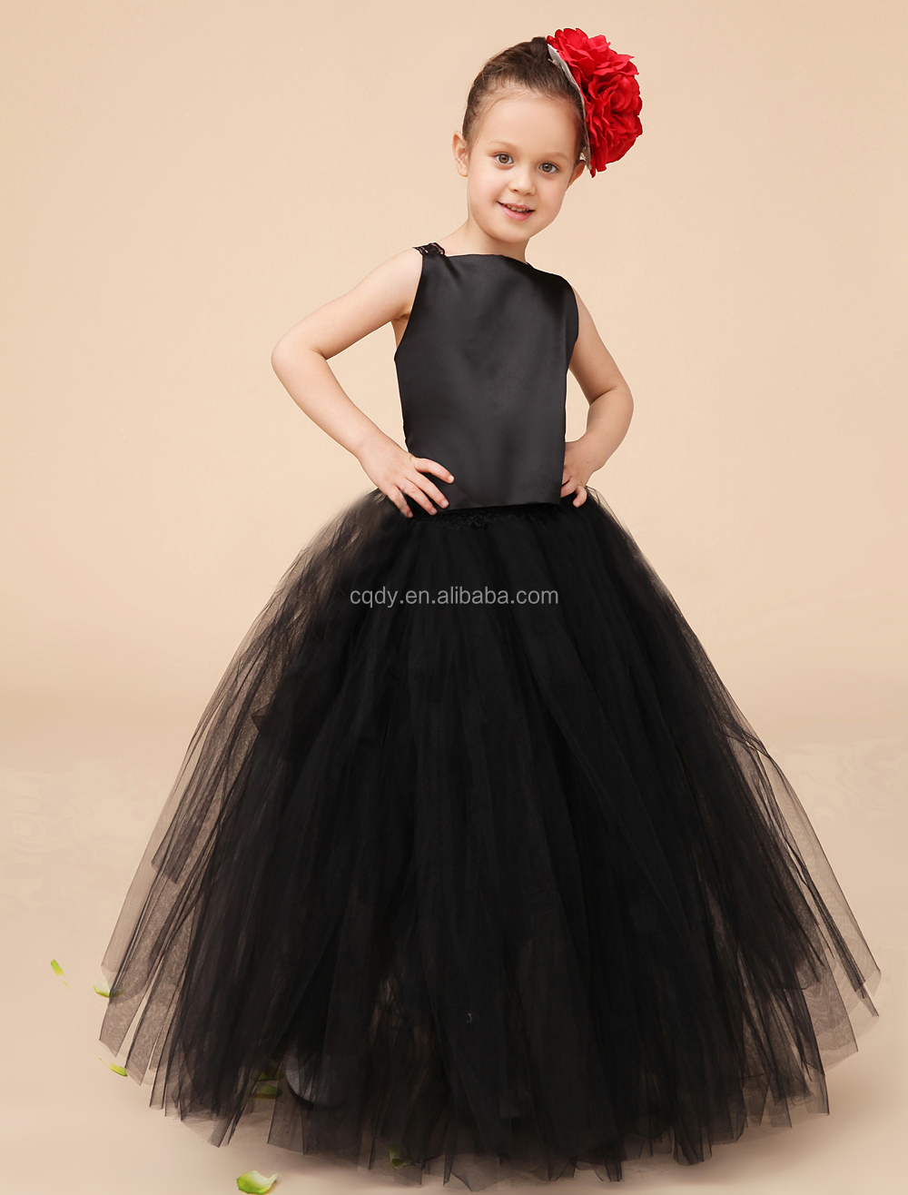 02b6f3a944 Children Black Cotton Frocks Design For Flower Girls Summer Party Dresses  Fancy Print Short Sleeve Elegant