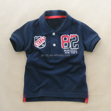 Fancy baby embroidered shirts children wear kids t-shirt polo for boy
