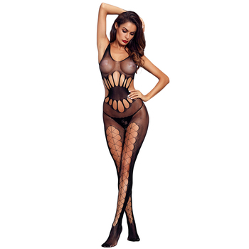 4e80c0b22b Sexy Black Transparent Hollow Out Full Fishnet Bodystocking Lingerie ...