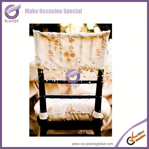 K0673 hot sale popular wholesale chameleon ribbon embroidery blush pink polyester banquet wedding chair covers manufacturers