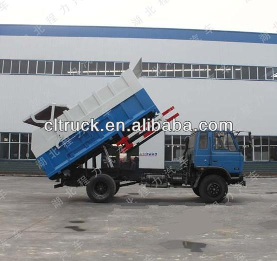 DongFeng 145 hermetic garbage tipper truck