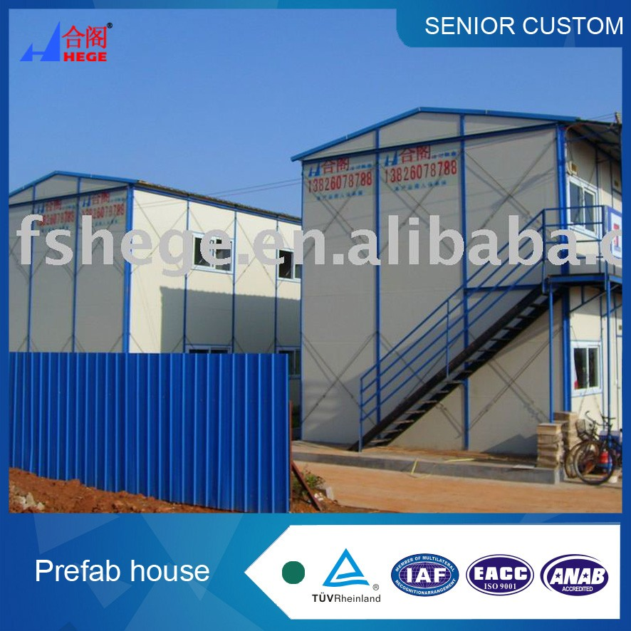 Cheap low cost Prefab House Small Panelized Home Prefabricated worker house construction site kit home