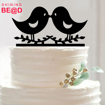 Love Kissing Birds Wedding Engagement Cake Topper Cake Decoration