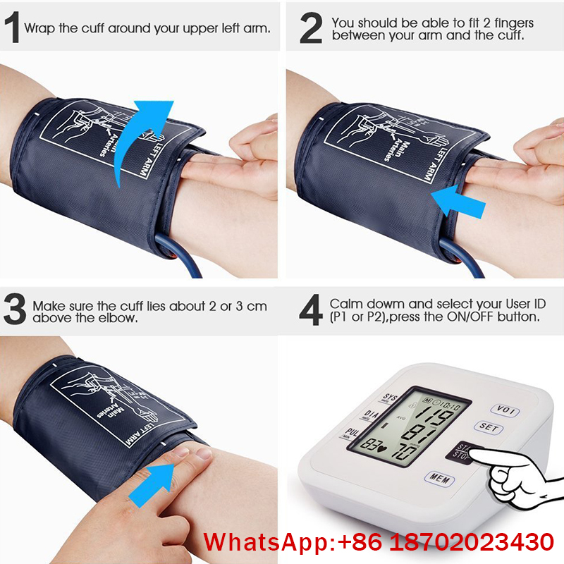 IN-G084-3 Digital MIni Portable Heart Race Health Care Arm Blood Pressure Monitor