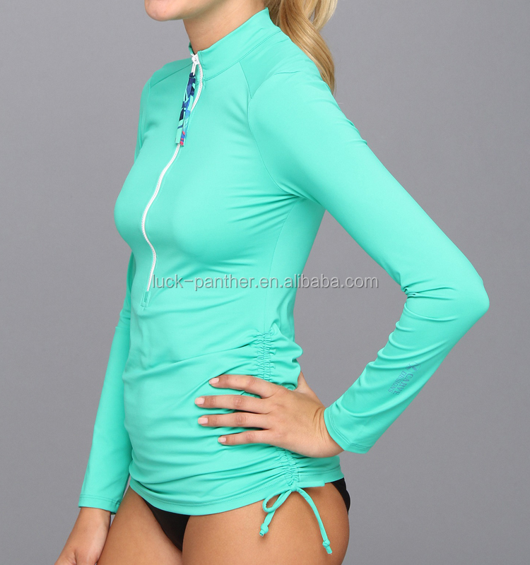(Factory Price ) OEM womens fashion compression wear in high quality rush guard