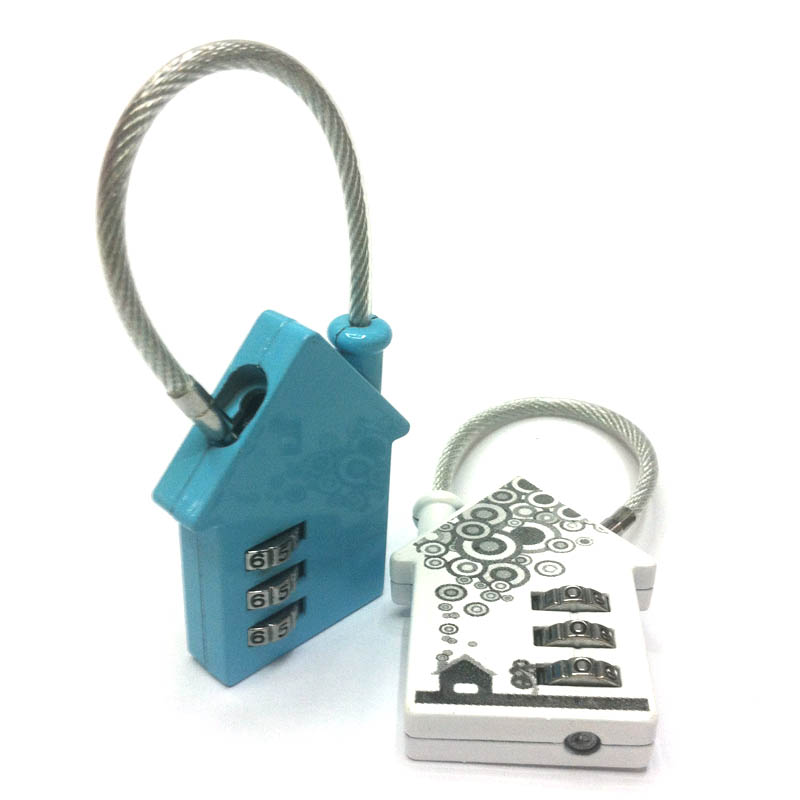 CH-836 Cute House Shaped resettable cable combination lock