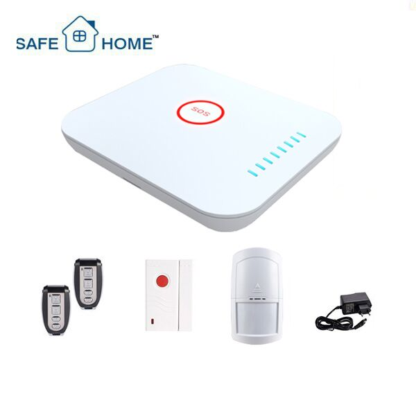 12V DC Intelligent GSM Auto Dial Fire Detection and Home security Alarm System