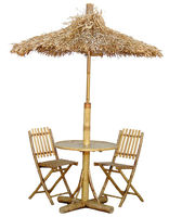 BFS-13014 - Outdoor garden furniture - Outdoor Bamboo Dining Set with Umbrella