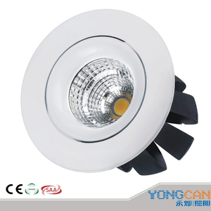 cob 7w white aluminum alloy led spotlight