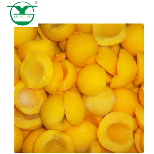 IQF frozen yellow peach halves bulk packing